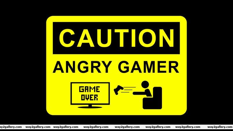 Angry gamer wallpaper
