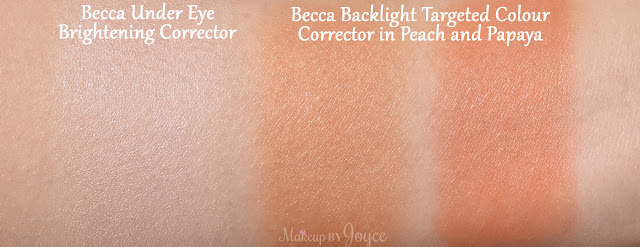 Becca Backlight Targeted Colour Corrector Peach Papaya Swatches