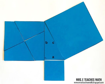 Pythagorean Theorem proof without words activity