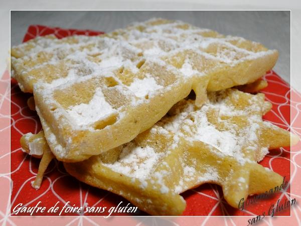 recette de gaufres de foire sans gluten sans lactose