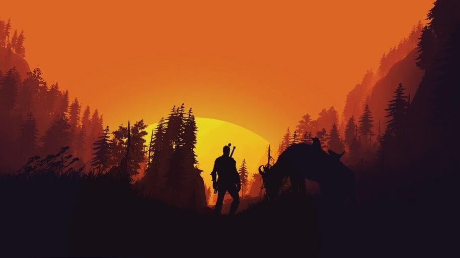 The Witcher 3 Wild Hunt Minimalist 4k Wallpaper 51320