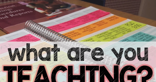 What Are You Teaching? January