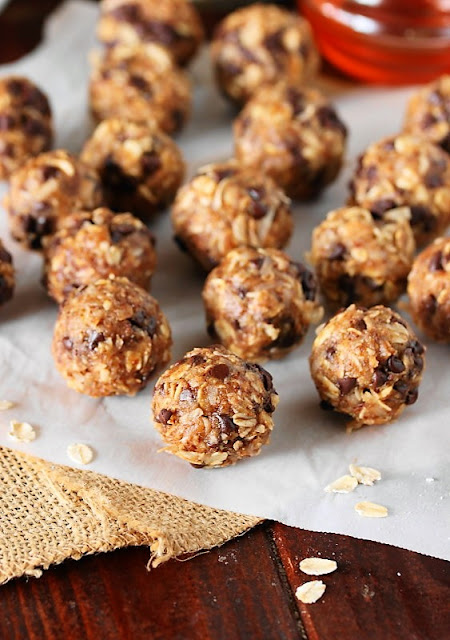 Peanut Butter Chocolate Chip Granola Bites Image