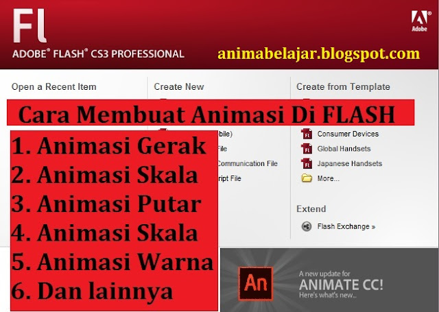 CARA MEMBUAT ANIMASI DI ADOBE FLASH