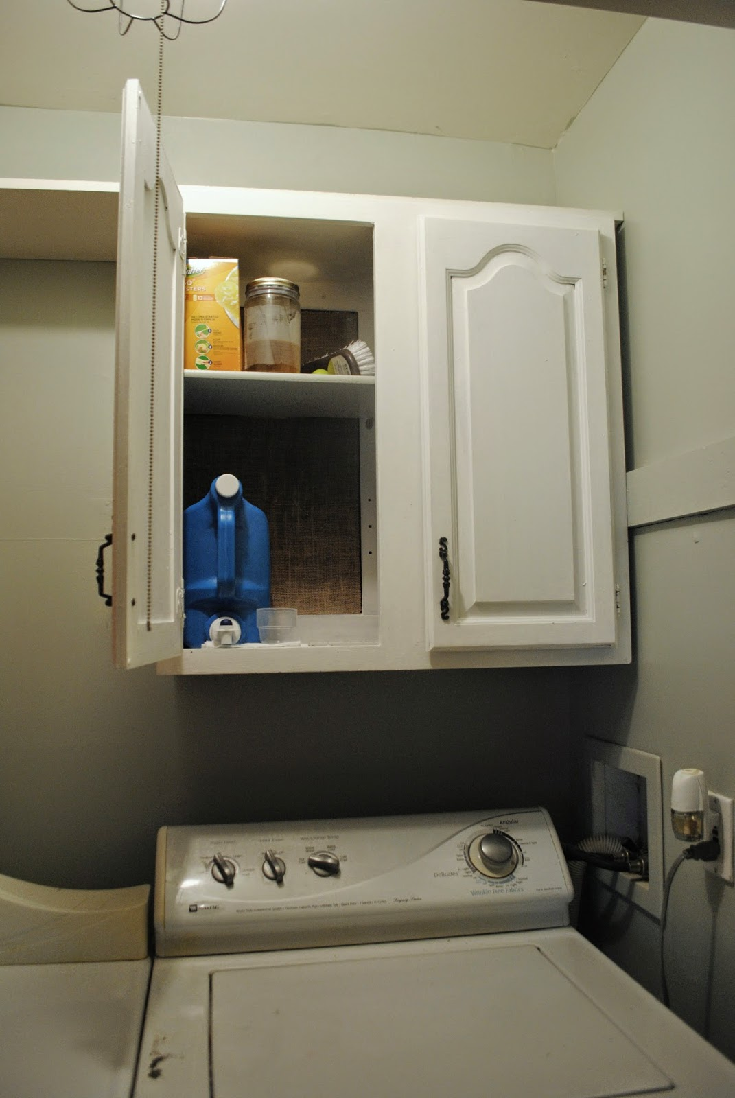 Two It Yourself Turn A Thrifted Cabinet Into Laundry Room