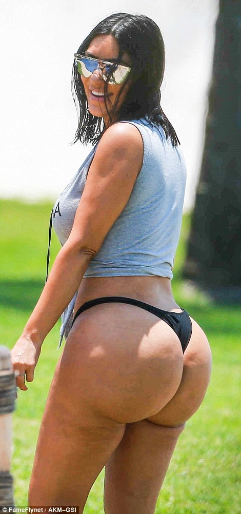 Image result for Kim Kardashian Shows Off Unairbrushed Butt Again In Photos