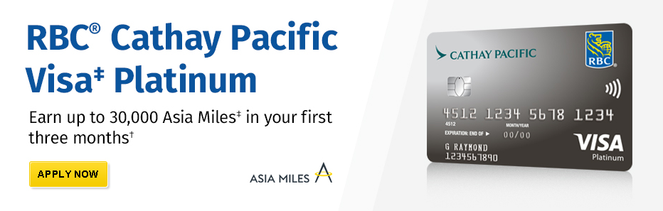 Rbc Cathay Pacific Visa Platinum Card Sign Up Bonus Increased To 30 000 Miles Ly By July 15