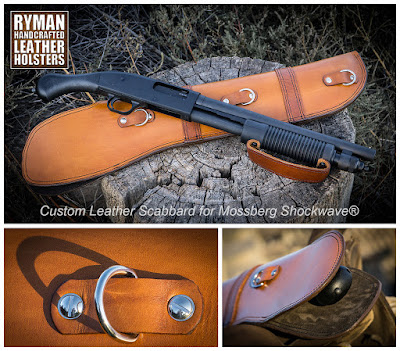 mossberg shockwave case holster scabbard leather