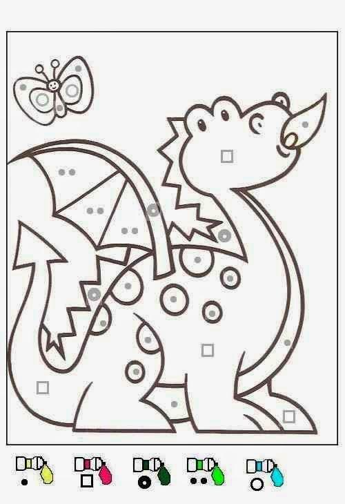 dragon coloriages magiques maternelle