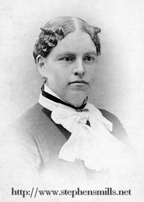 Picture of Emily Jane Bryant  Born 1/20/1843 in Greenwood, Maine  Died 4/12/1927 in Woodstock, Maine  Daughter of Dustin Howard Bryant 1821-1889  and Dorcas Whitman 1816-1906