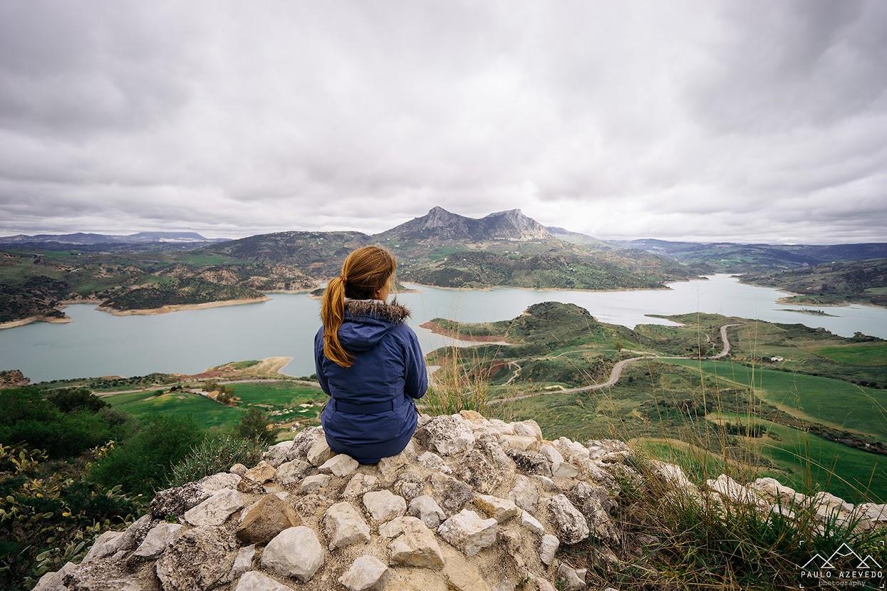Visitar a Andaluzia - Vista da Serra de Grazalema a partir do castelo de Zahara de la Sierra