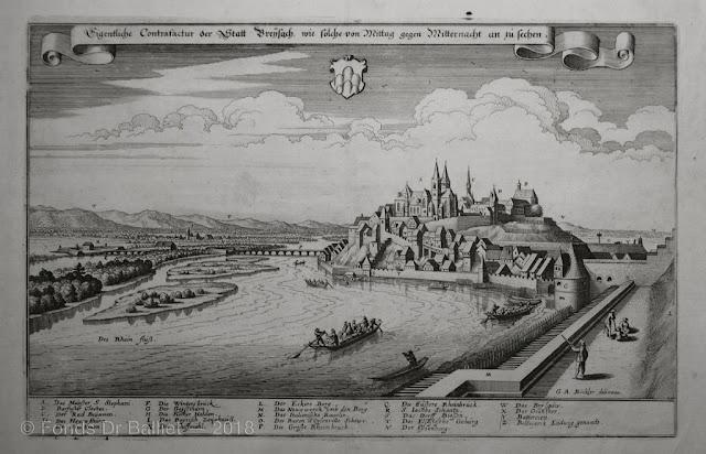 Breisach en 1644 (Gravure par Böckler publiée par M. Merian)