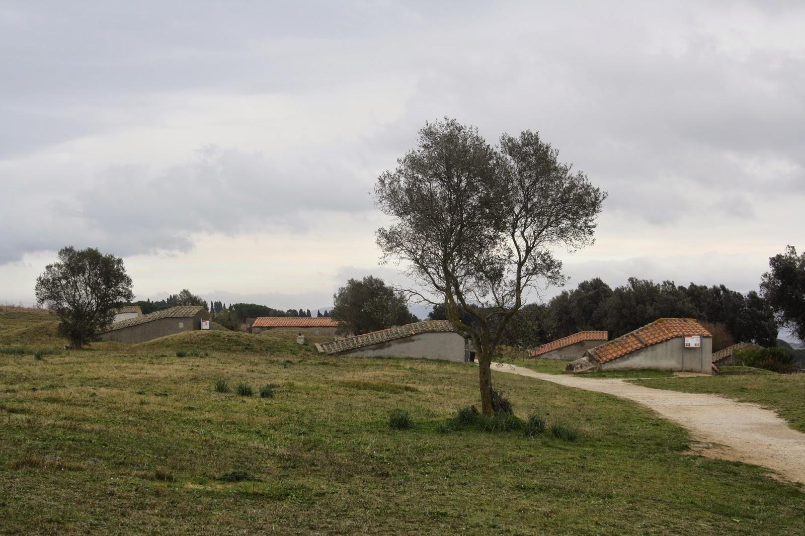 Exterior de la Necrópolis etrusca de Tarquinia