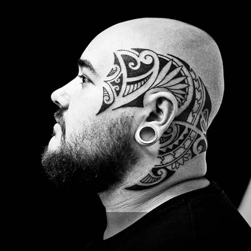 maori tribal dövmeler kafa head tattoos