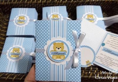 convite de aniversário infantil personalizado ursinhos urso ursinhos estampa poá bolinhas listra azul bebê 1 aninho menino festa