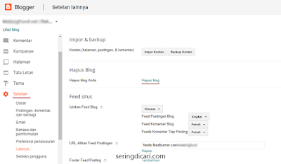 Cara Menghapus Blog di Blogspot Permanent Terbaru