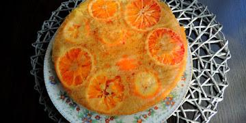 Ciasto klejące z pomarańczami - odwrócone