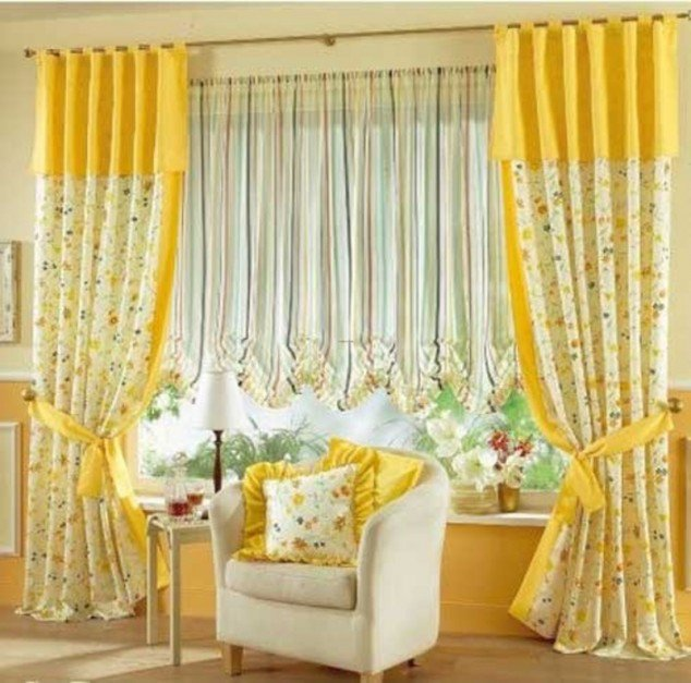 Bright Color Curtain Designs for Living Room! RR Interiors