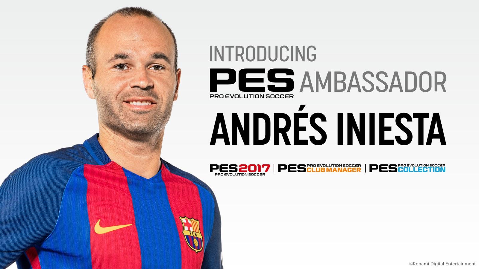 2aff09d33b4ac  PES 2017  Konami anuncia Iniesta como embaixador oficial do PES