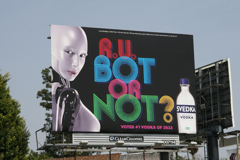 Svedka Bot or Not billboard