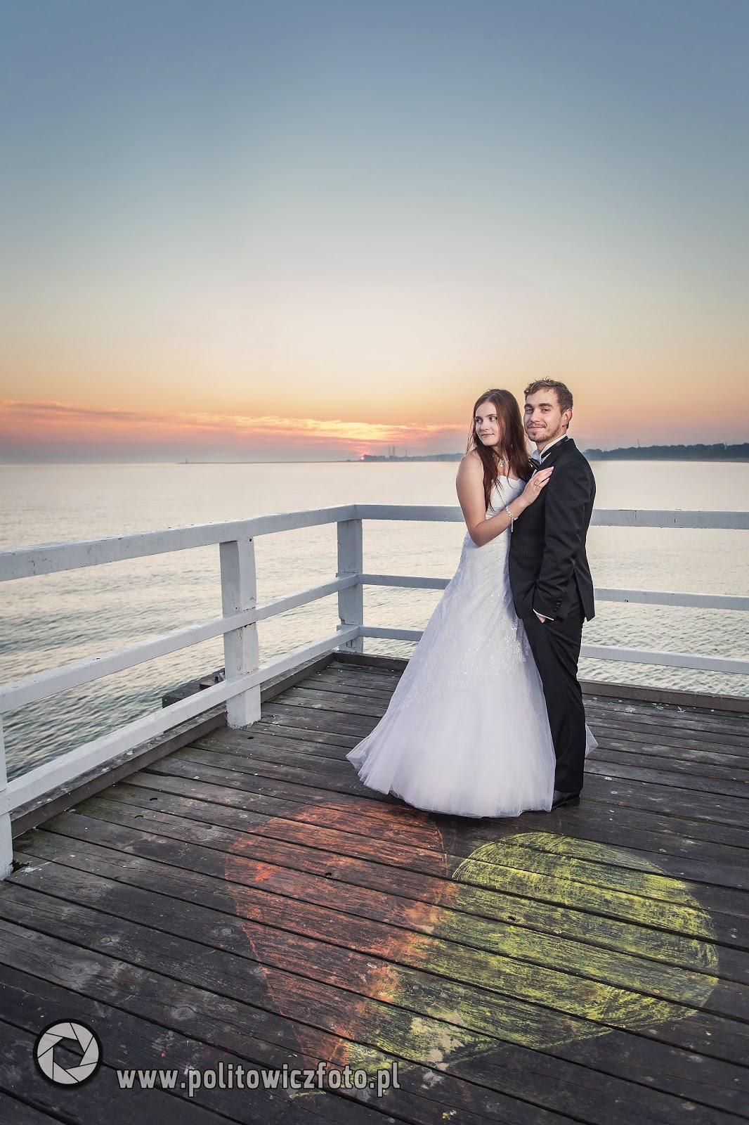 sesja ślubna na molo