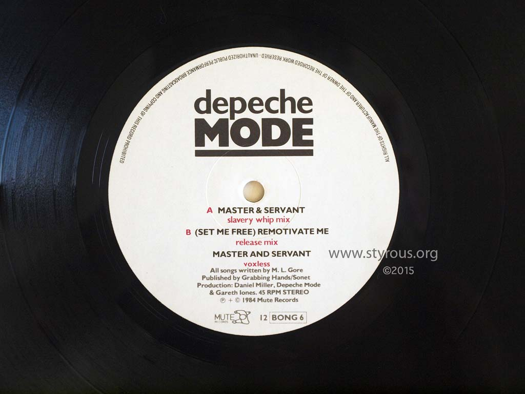 Depeche Mode Master And Servant Slavery Whip Mix