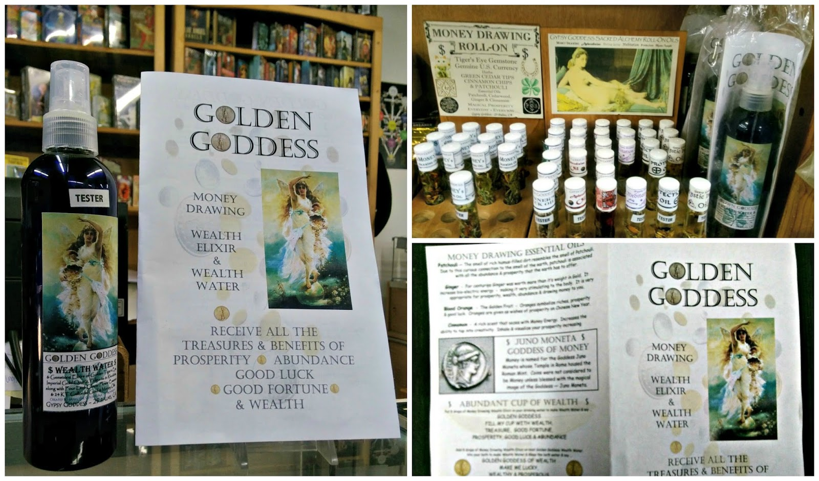 Edge of the Circle Books Newsletter: Gypsy Goddess Spiritual Waters