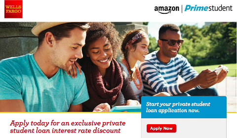 Promotion Wells Fargo - Amazon Prime Student