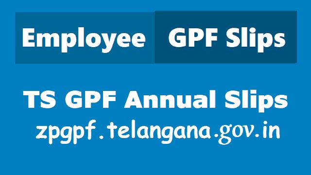ZPGPF Slips Adilabad, gpf slip pdf download