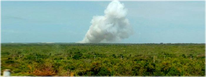 foguete brasileiro explode em alcantara - maranhao