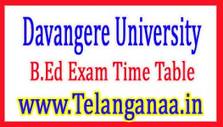 Davangere University B.Ed 2nd Sem 2018 Exam Time Table