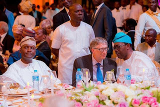 Bill gates Appears at Dangote Daughter Wedding - See photos.