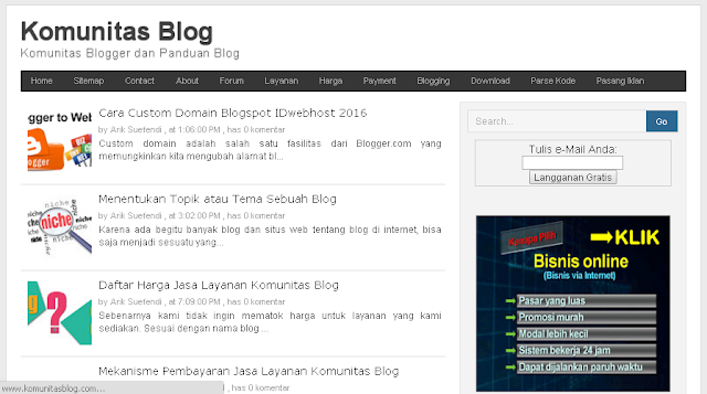 ScreenShoot KomunitasBlog