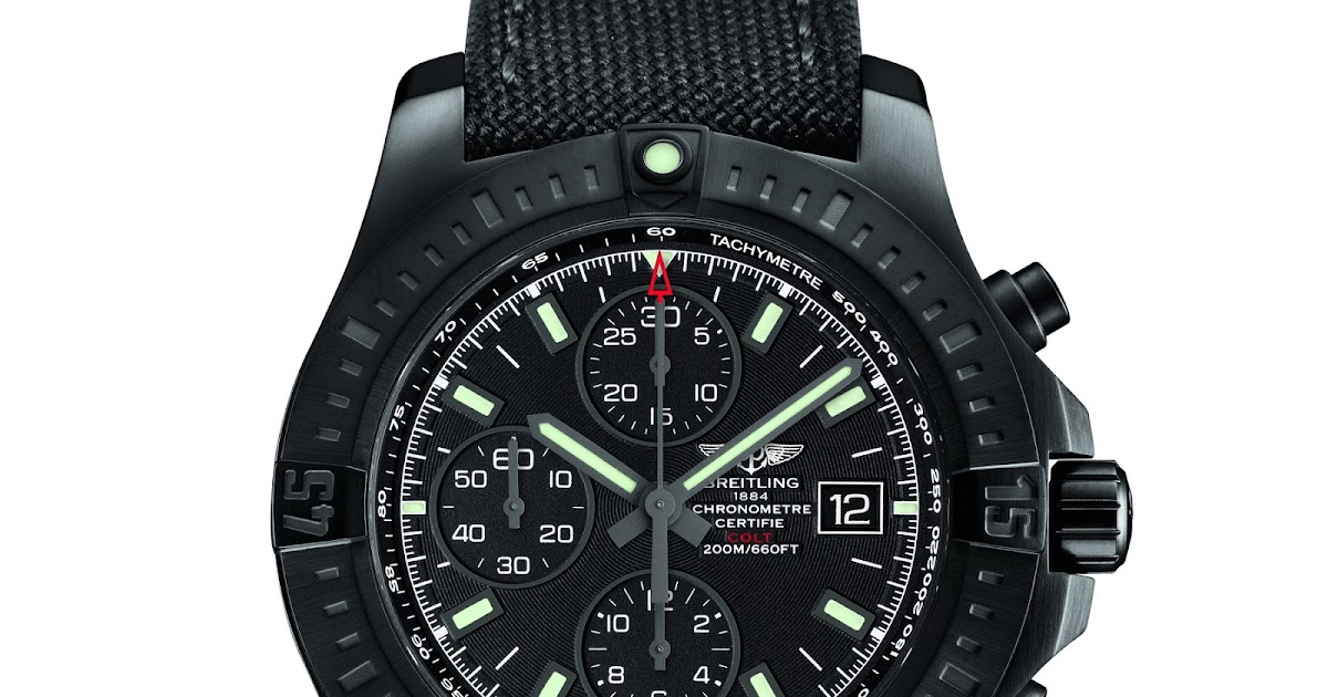 oceanictime breitling colt chronograph automatic blacksteel. Black Bedroom Furniture Sets. Home Design Ideas