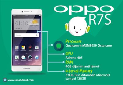 hardware, processor, ram, gpu yang digunakan OPPO R7S