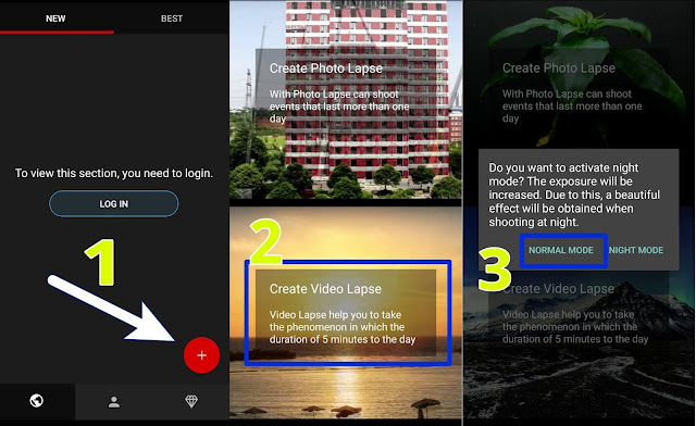 Cara buat time lapse android