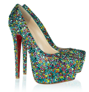 christian Louboutin sparkle pump