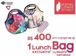 Promoção Shopping Cidade São Paulo Dia das Mães 2019 Compre Ganhe Lunch Bag