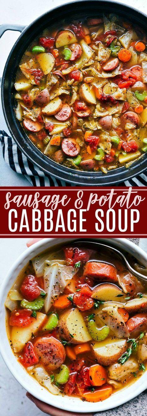 Sausage, Potato, and Cabbage Soup