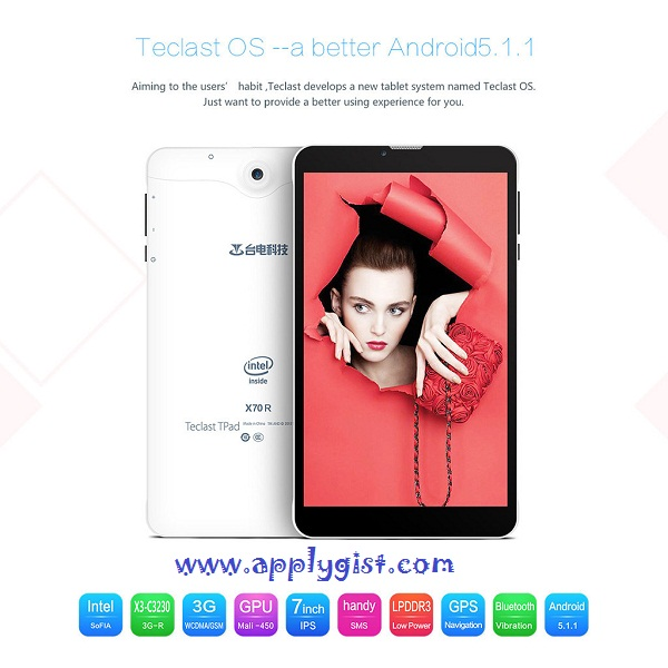 cheapest android tablet  TECLAST X70R - 3G Tablet PC 7.0 Inch
