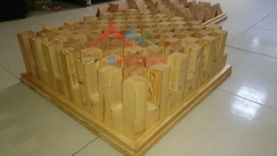 wooden sound diffusor