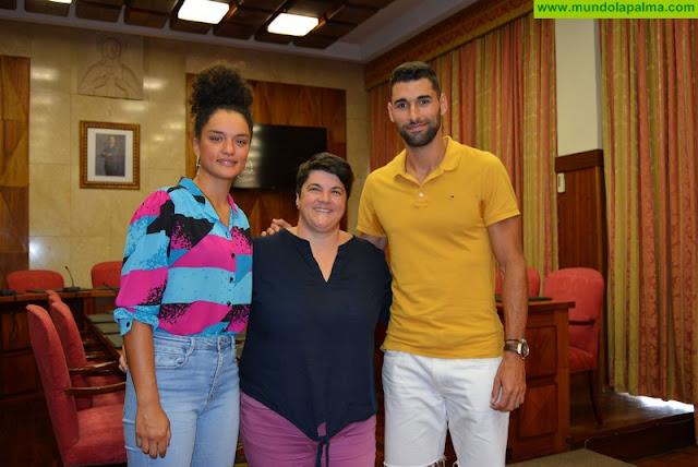 El Cabildo de La Palma recibe a Rosanna Simón y Samuel García y reafirma su apoyo a los deportistas de élite de la isla