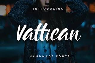 Vattican Handmade Brush Font