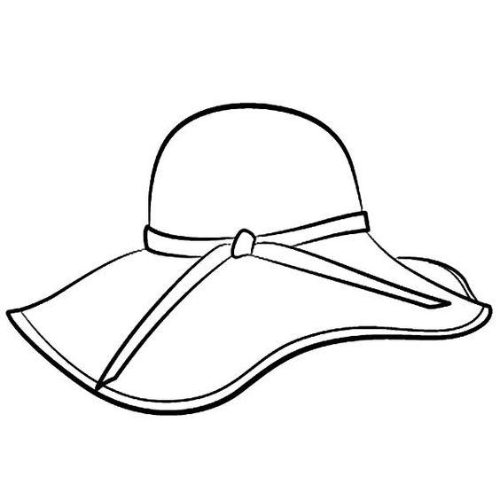 Tranh tô màu mũ rộng vành