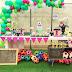 Festa de aniversário com futebol e cor de rosa!