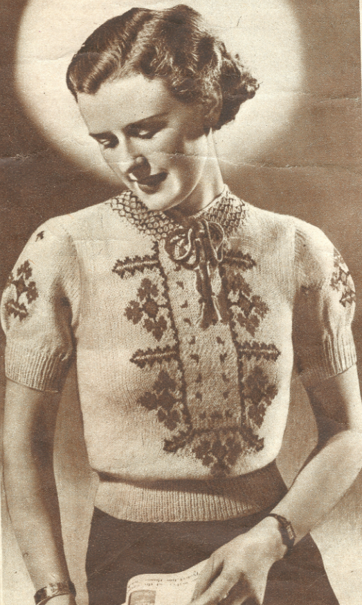 1930s Knitting Patterns : The Vintage Pattern Files: 1930s Knitting - Womens Hungarian Jumper