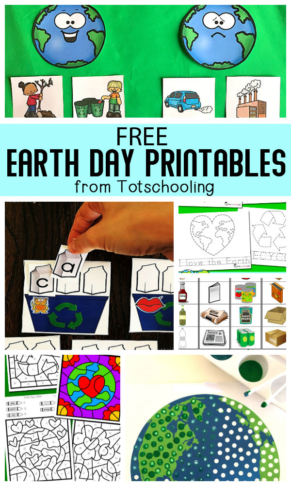 20+ Free Earth Day Printables For Kids Totschooling - Toddler, Preschool, Kindergarten  Educational Printables