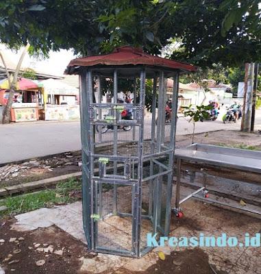 Kandang Burung Besi Cucak Rowo Pesanan Bpk Rudi di Pasar Minggu