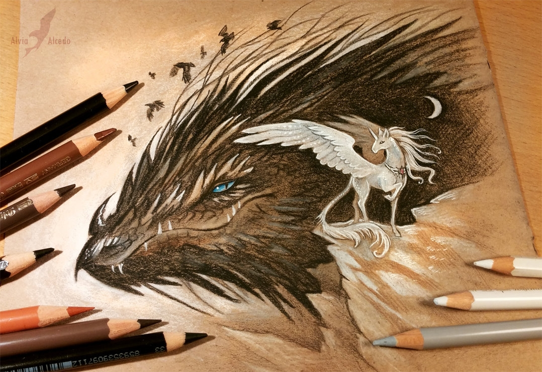 18-Darkness-is-coming-Alvia-Alcedo-Dragon-and-other-Mythical-Fantasy-Drawings-www-designstack-co