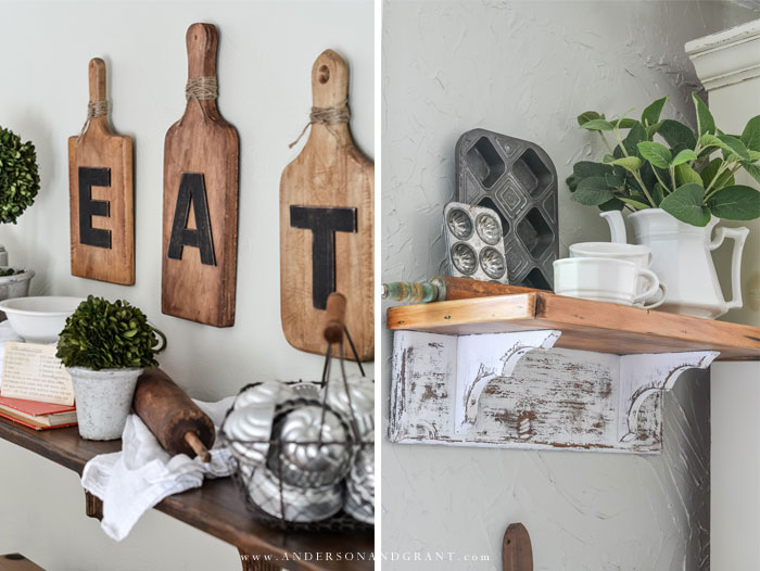 Farmhouse sign and shelf